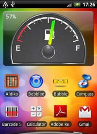 Widget Battery Fuel Gauge для Android